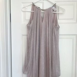 London Times lavender shimmer dress
